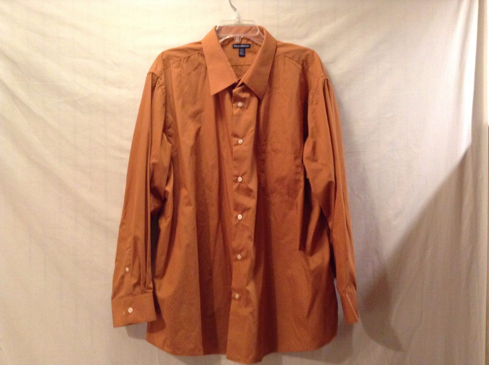 Great Condition Croft and Barrow XXL 34/35 Orange Button Up Collared Shirt