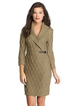 Calvin Klein Buckle-detail Shawl Collar Women's Sweater Dress (Taupe, La... - $89.99