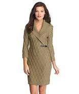 Calvin Klein Buckle-detail Shawl Collar Women's Sweater Dress (Taupe, La... - $89.99