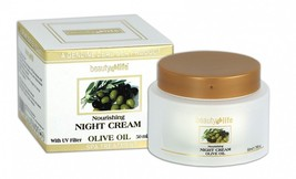 Night nourishing face cream with Olive Oil Dead Sea Beauty Life 1.7fl.oz/50ml - $14.85