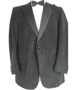Kepp's Men Shops evening coat black 42L blazer ultrasuede handcraft USA ... - $29.69