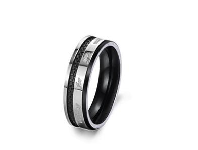Couples Matching Titanium Steel Promise Rings Free Shipping