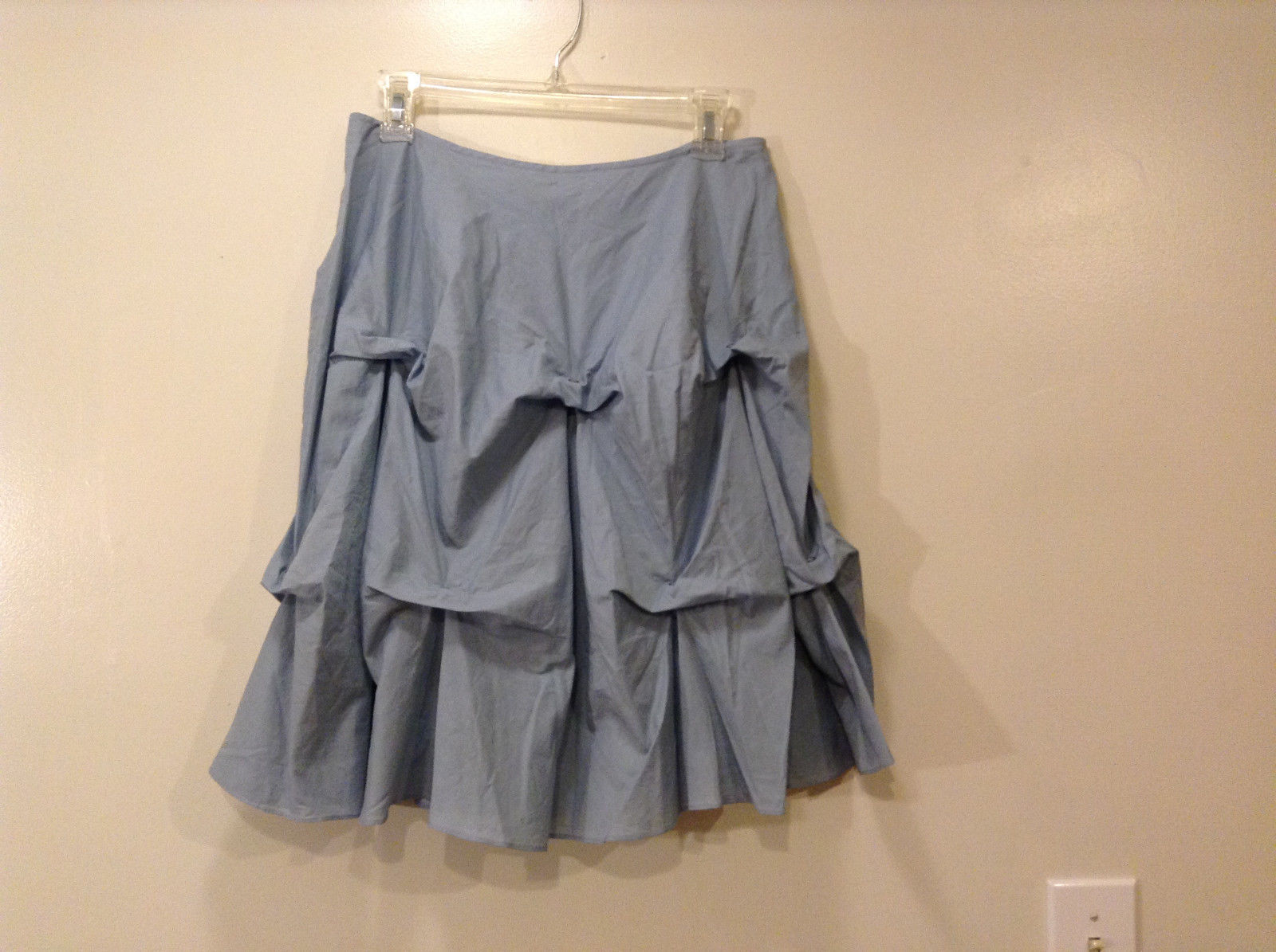 Annie Walwyn-Jones Custom Made Light Blue Origami Skirt Size M 100% Cotton