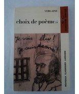 Choix De Poemes  [Mass Market Paperback] Paul Verlaine - $44.96
