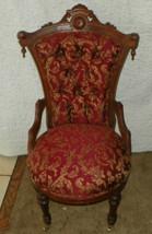 Walnut Carved John Jelliff Parlor Chair / Sidechair  (SC214) - $539.10