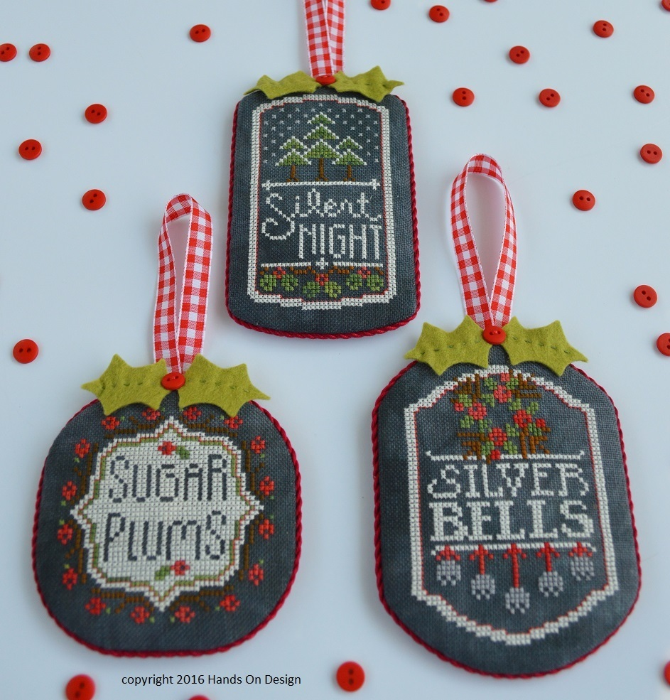 Primary image for CLEARANCE Pt 3 Chalkboard Ornaments: Christmas Collection Hands On Designs