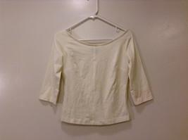 Annie Walwyn-Jones Custom Made Size S Cream Off-shoulders Boat Neck T- Blouse