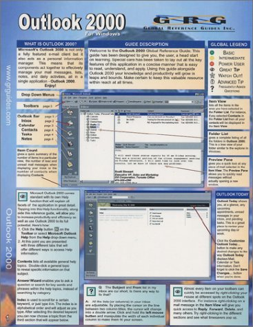 Outlook 2000: Quick Reference Guide [Pamphlet] Sellers, Drew
