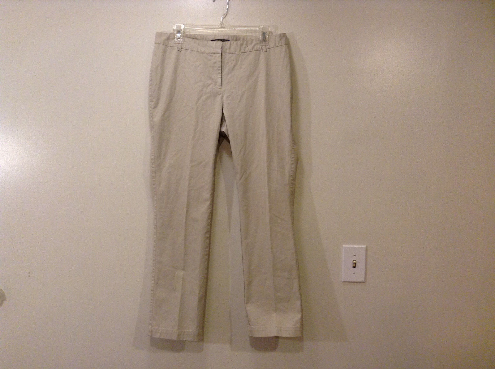 Brooks Brothers Ladies Milano Fit Size 10 Khaki Gray Pants Cotton Spandex
