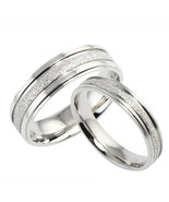 Frosted Titanium Matching Couples Ring Set Free Shipping - $40.00