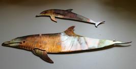 Dolphin Pair of 2 Metal Art Decor - $16.82