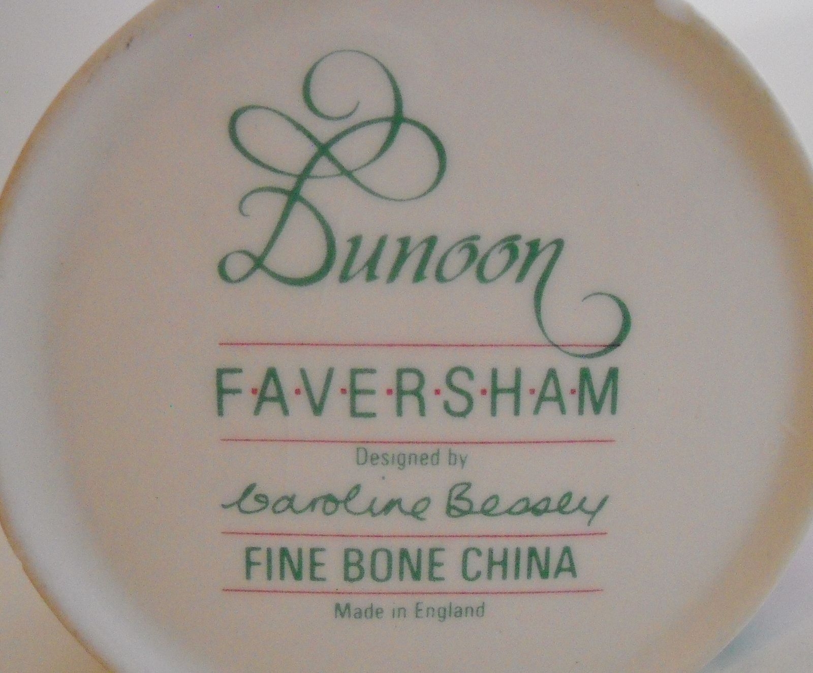 Cup Dunoon Faversham Fine Bone China Coffee Mug Floral Flowers Caroline Bessey