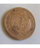 2 Cent Coin US 1865  - $29.99
