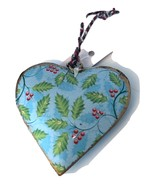 Holly  and Snowflake  Heart Ornament-Set of 10 - $19.99