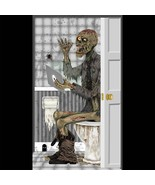 Funny ZOMBIE TOILET BATHROOM DOOR COVER Wall Po... - $4.92