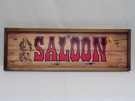 "ORIGINAL Vintage 1973 SALOON 6x18"" Wooden Bar Sign - $32.36"