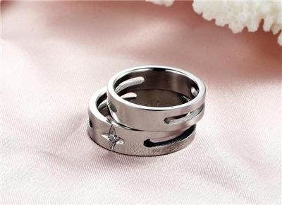 Couples Matching Titanium Steel Band Rings Free Shipping