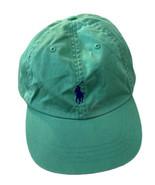 Vintage 90's Polo Ralph Lauren Green Navy Blue Small Pony Baseball Hat Cap - $18.49