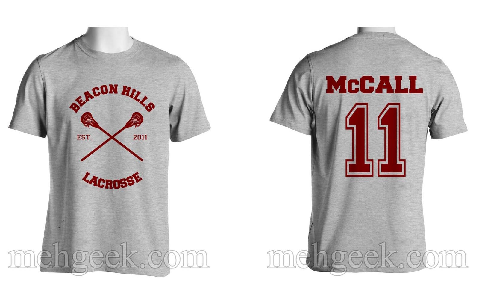 MCCALL 11 Scott Mccall CR Beacon Hills Lacrosse Teenwolf Men tee SPORTGREY S-3XL - $24.00