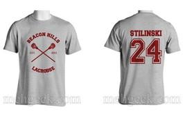 Stilinski 24 Stiles Cr Beacon Hills Lacrosse Teenwolf Men Tee Sportgrey S 3 Xl - $24.00