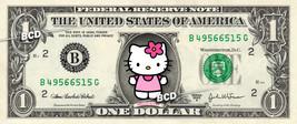 HELLO KITTY on a REAL Dollar Bill Cash Money Collectible Memorabilia Cel... - $6.66