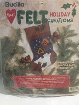 "NEW Bucilla Heart Felt Christmas Stocking Kit #83610 Winter Wonderland 18"" - $16.36"