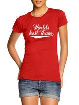 Worlds Best Mum Womens T Shirt red T-Shirt XS-XXL - $17.00