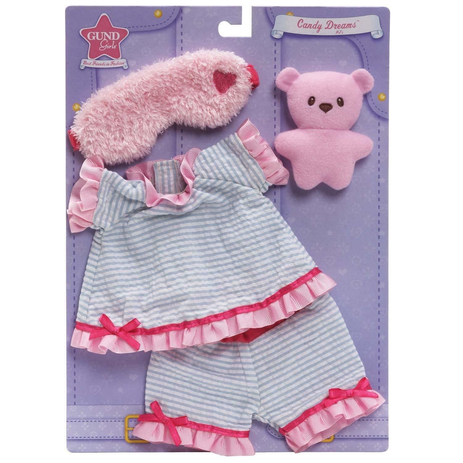 """Gund Girls Best Friends In Fashion Candy Dreams PJ Pajamas Outfit Fits 17"""" Doll - $12.16"""
