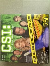 CSI Crime Scene Investigation Jigsaw Puzzle 750 Pieces Double Down NEW Sealed - $19.99