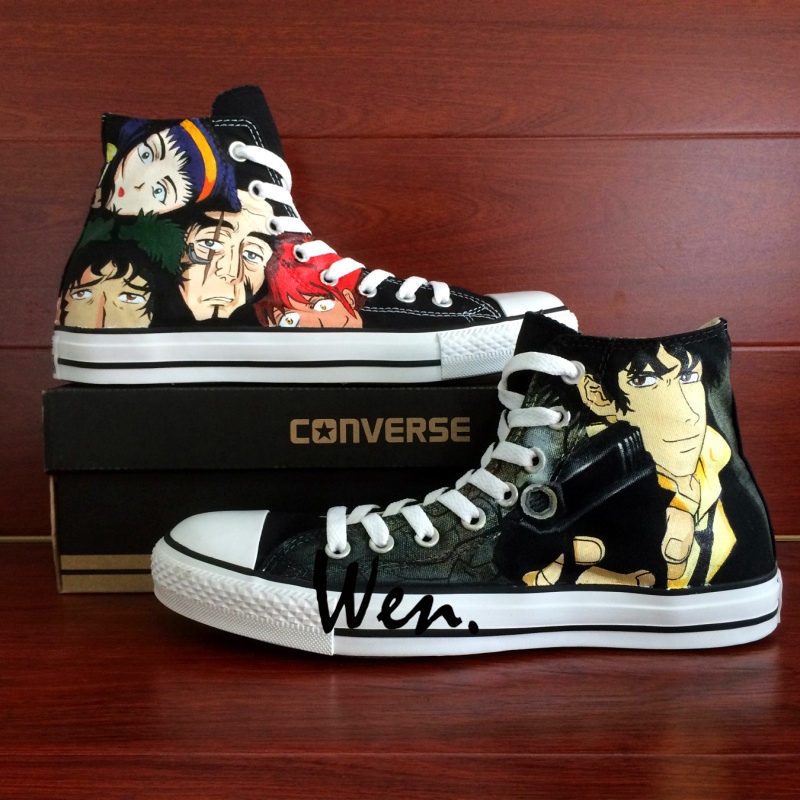 0481f563a93df4 Cowboy Bebop Spike Spiegel Design Hand Painted Shoes Converse All Star  Sneakers