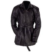 Giovanni Navarre Ladies' Black Genuine Leather Jacket Waisted Belt Tie S... - $29.95