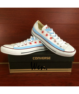 Low Top Converse All Star USA Chicago Flag Original Design Hand Painted ... - $145.00