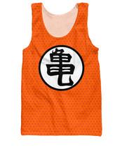 Dragon Ball Z Orange Kame Symbol Goku Master Roshi Tank Top - $23.99