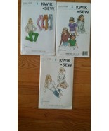 Vintage Sewing Patterns: Kwik Sew 414, 1109, 1235 (lot of 3) New unopened - $7.87