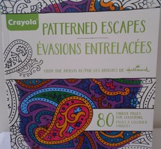 HALLMARK Crayola PATTERNED ESCAPES COLOURING BOOK FOR GROWN-UPS  - $8.99