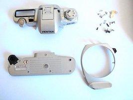 Pentax MZ-50 FILM CAMERA.Original Front, Bottom Covers, parts for repair   - $19.00