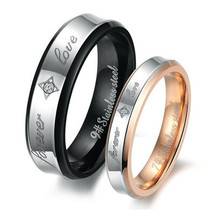 Forever Love Matching Titanium Steel Band Rings Free Shipping - $60.00