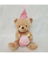 """9"""" Happy Birthday Musical Bear with Cake & 1 Candle Plush Toy Baby Safe B84 - $14.97"""