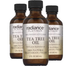 Vegan Tea Tree Oil  (2oz, Preservative Free) by Radiance Platinum