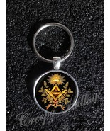 Freemason Symbol Square and Compass Illuminati Masonic  keychain - $12.87