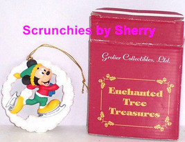 Disney Mickey Mouse Ornament Christmas Tree Grolier Enchanted Treasure - $34.95
