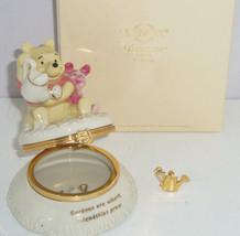 Disney Lenox Winnie the Pooh Figurine Trinket Box Watering Can Charm - $79.95