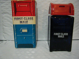 Vintage Avon First Class Male Mailbox Decanter With Box - $12.61