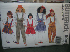 Butterick 5081 Girl's Jumper, Jumpsuit & Top Pattern - Size 7 - $6.72