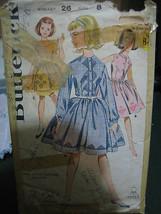 Vintage 1960's Butterick #2300 Girl's Dress Pattern - Size 8 Chest 26 - $9.25