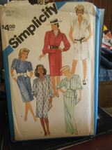Vintage Simplicity 6455 Misses Dresses in 2 Lengths & Sash Pattern - Size 16 - $6.24