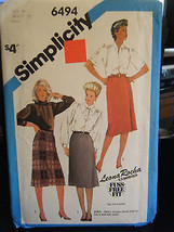 Simplicity 6494 Misses Slim Skirt & Front Wrap Skirt Pattern - Size 18 Waist 32 - $5.35