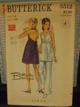 Butterick Boutique 5512 Misses Halter Dress & Pants Pattern - Size 14 Bu... - $11.58