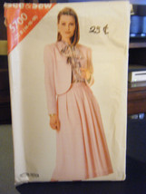 Butterick See & Sew 5700 Misses Lined Jacket & Skirt Pattern - Size 14 & 16 - $6.68