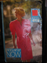 Vintage Butterick See & Sew #4958 Misses Top & Skirt Pattern - Sizes 12/... - $5.35